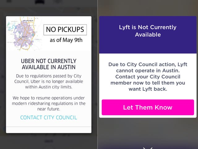 Uber And Lyft Are Officially Dead In Austin