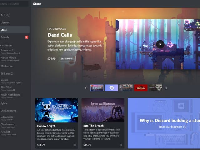 Discord Is Launching Its Own Curated Game Store