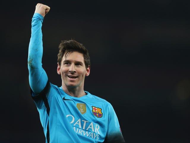 Barcelona Beat Arsenal Koska heillä on Lionel Messi