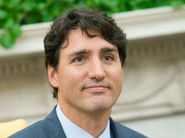 Questa figura di cera Justin Trudeau è un po 'invecchiata