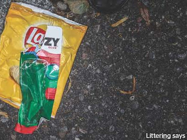 Clever ads piece together trash to make fun of people who litter