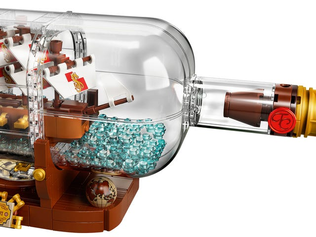 Building A Lego Ship In A Bottle Seems Pretty Easy