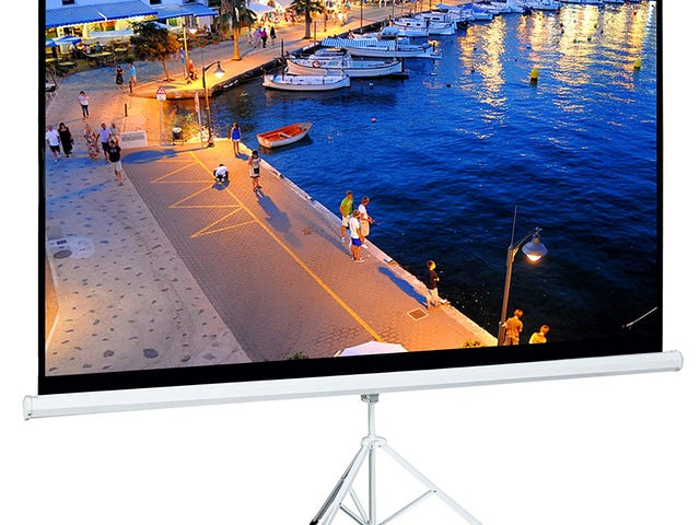 100 Inch 16:9 Portable Pull Up Tripod Projector Screen @Amazon $49.59+ Free Shipping