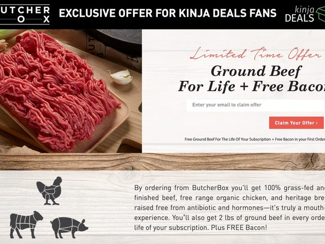 Sign Up For Butcher Box, and Get Two Pounds of Ground Beef In Every Box, Forever [Exclusive]