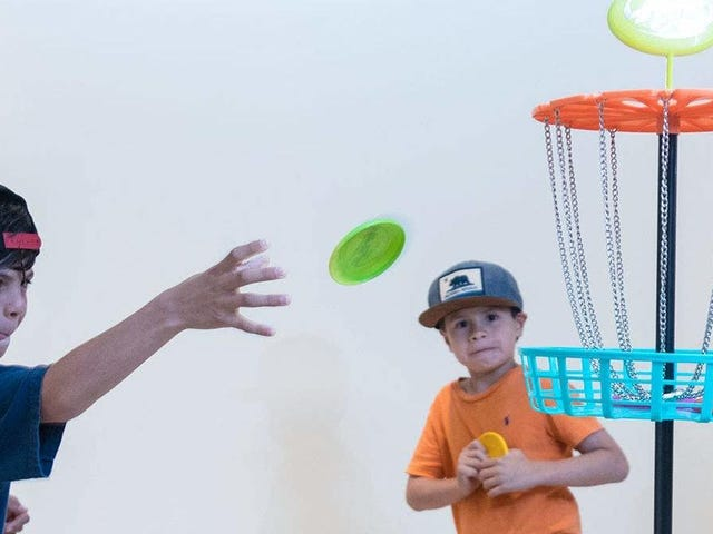 What Could Go Wrong? Get This Indoor Frisbee Golf Set For $13.
