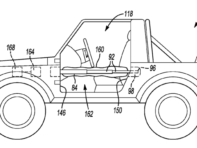 Ford Designed A Deployable Airbag Mechanism For Off-Road Vehicles With Removable Doors