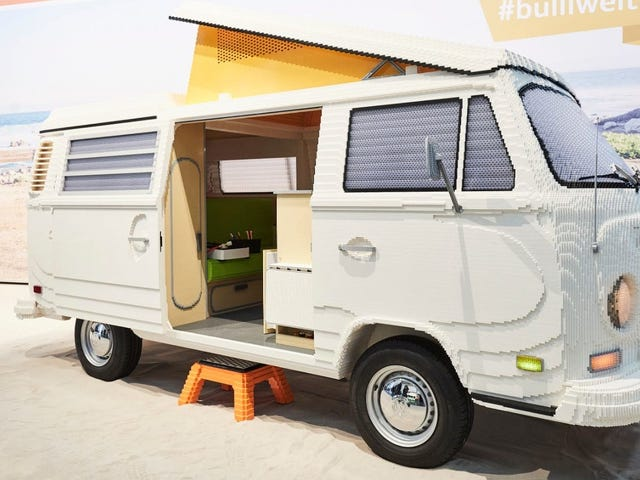 This Lifesize VW Camper Built From 400,000 Legos Is Every Car Kid's Dream