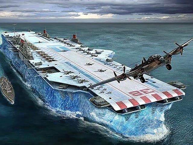Habakkuk, proyecto secreto del gobierno británico para crear un gigantesco portaaviones hecho de hielo