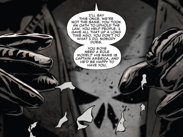 Oikea Punisher haluaa poliisit lopettaa teeskentelemällä olevansa Punisher