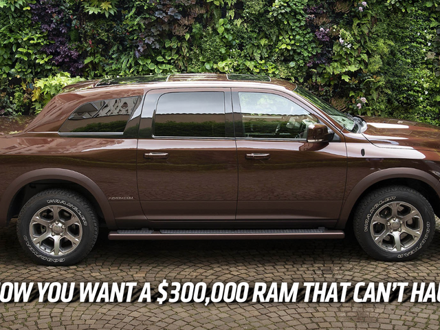 The Aznom Atulux Is A $300,000 Ram Truck Turned Sedan For Rich Idiots