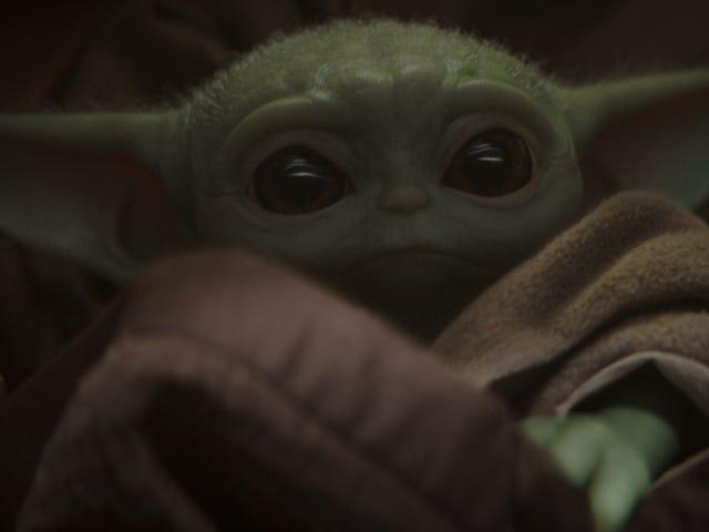 Vauva Yoda jää kiinni keskelle, kun Mandalorian poimii sivun