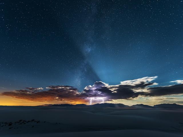 En White Sands Lightning Strike adskiller himlen og jorden