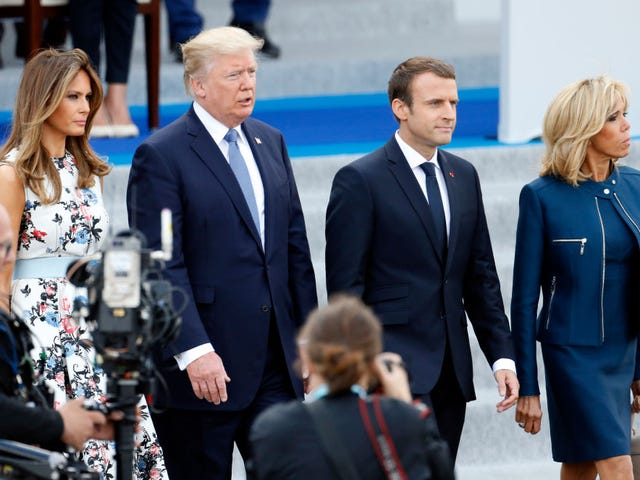 53 Percent of White Women Voted for Trump, Who Just Told France's First Lady: 'You're in Such Good Shape ... Beautiful'
