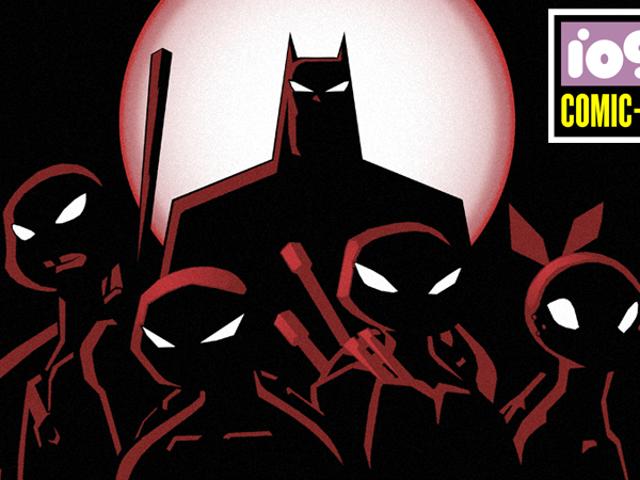 Den klassiske 90'ers tegneserie Batman er sammen med Ninja Turtles for en ny tegneserie
