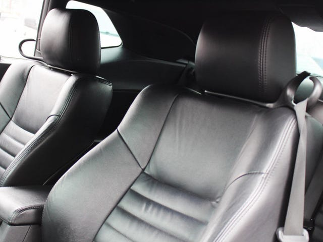 The Dodge Challengers seat belts are proof that we almost got a convertible version