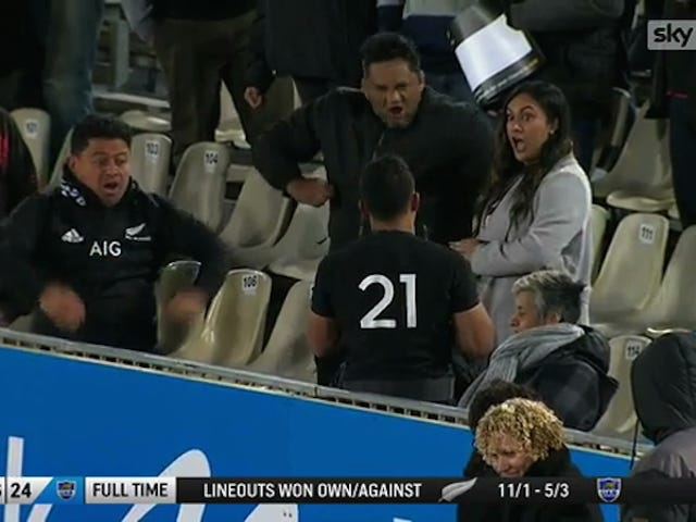 New Zealand Rugby Player's Family Performs Haka For Him After He Makes His Debut