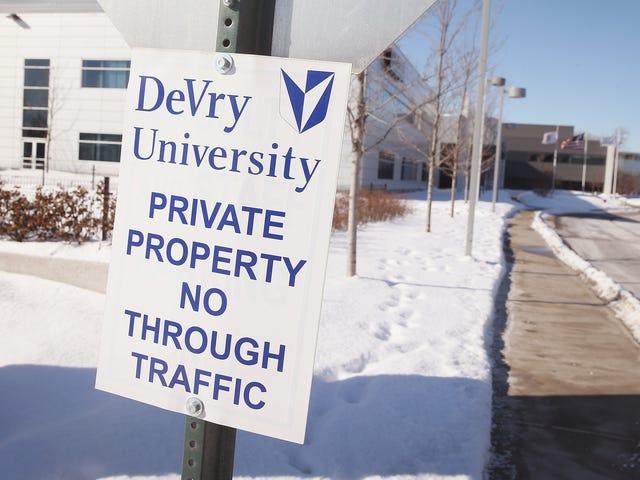 Trump Administration Hyr Tidigare DeVry Dean att köra Enhet Inspirerad av DeVrys dåliga beteende