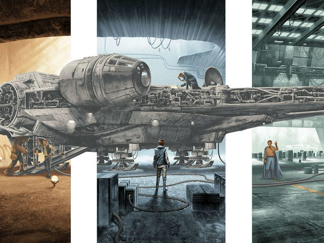 Celebrate the Millennium Falcon With This Dynamic, Trilogy-Spanning Poster