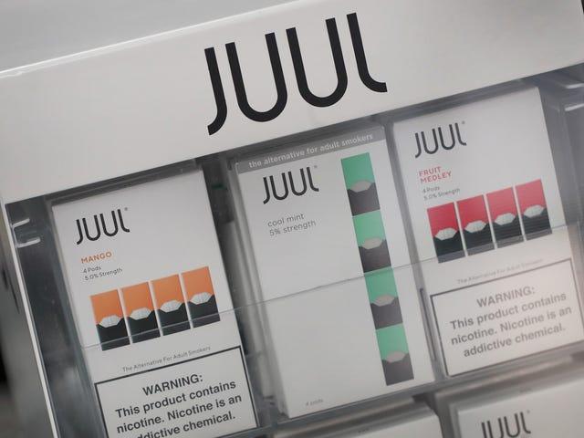 Juul está deteniendo la venta en línea de sus amadas vainas de mango y pepino