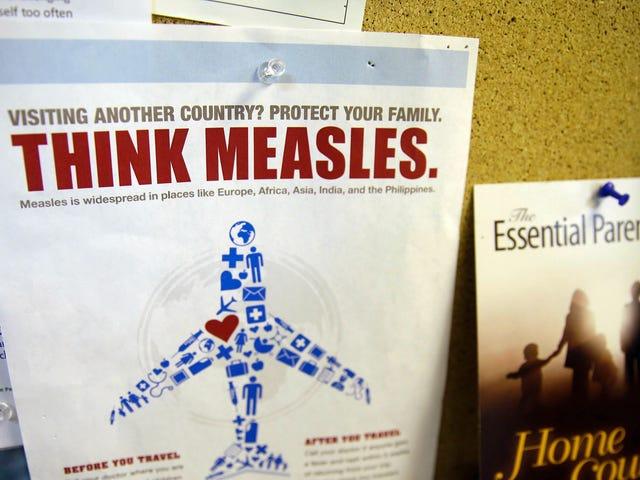 La contea di Washington con un alto tasso di bambini non vaccinati è nel mezzo di un'epidemia di morbillo