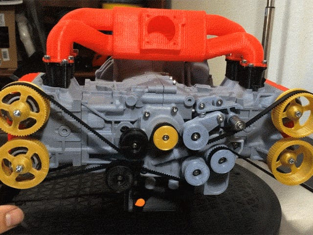 This 3D Printed Subaru Flat-Four Engine Is Deeply Satisfying