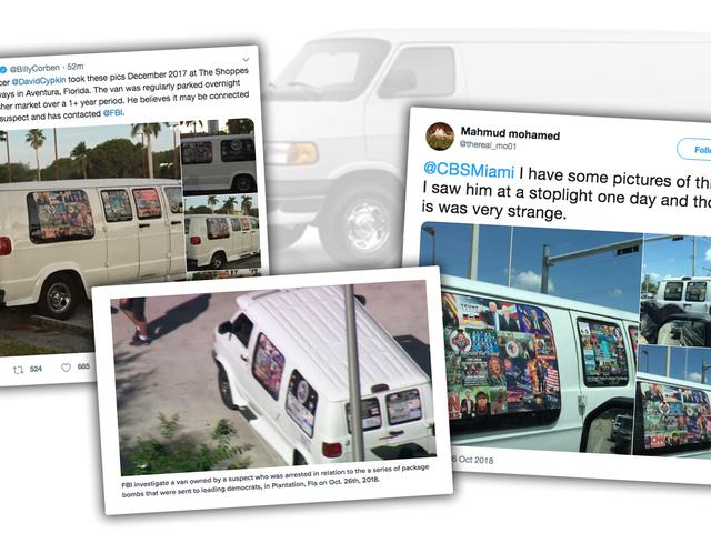 Mail Bombing Suspects White Van Look ser ud som om du forestiller dig, det ser ud