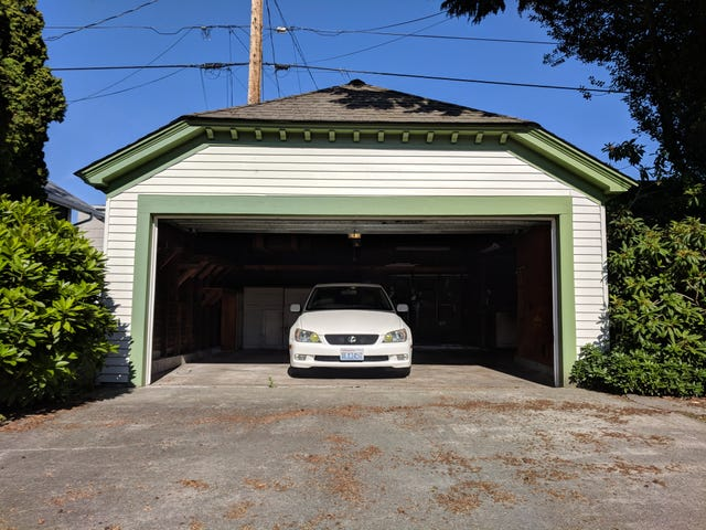 As of 3:48 PDT today, I am the humbled owner of a 2-car garage.