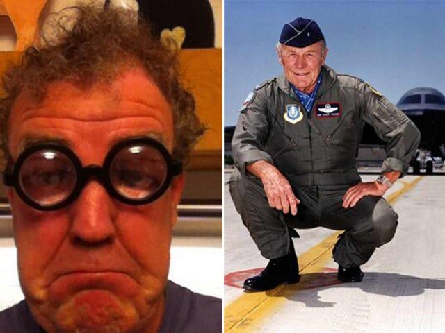 Jeremy Clarkson y Chuck Yeager están en una pelea de Twitter por aviones