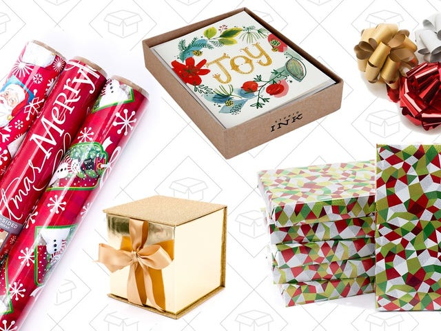 Wrap Up These One-Day Deals On Gift Paper, Bags, and Bows