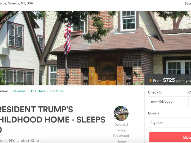 Thanks to Airbnb, You Can Fuck in Trump's Childhood Home for $725 a Night