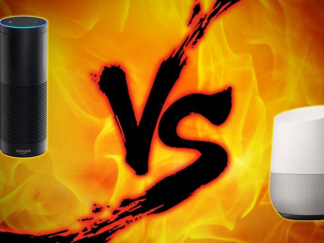 Home Voice Assistant Showdown: Amazon Echo vs. Google Home