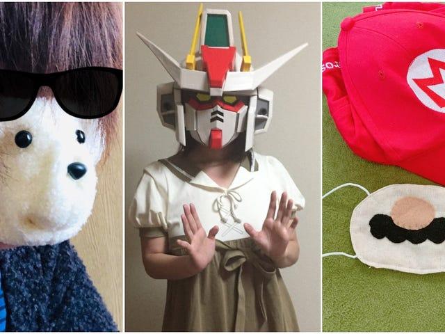 Ansiktsmasker Gnistkreativitet i Japan