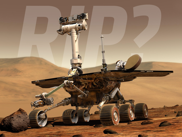 The Plucky Opportunity Rover May Finally Have Died on the Cold, Red Surface of Mars (UPDATE: It's Gone)