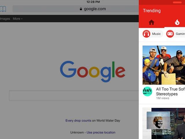 O YouTube agora suporta parcialmente multitarefa no iPad