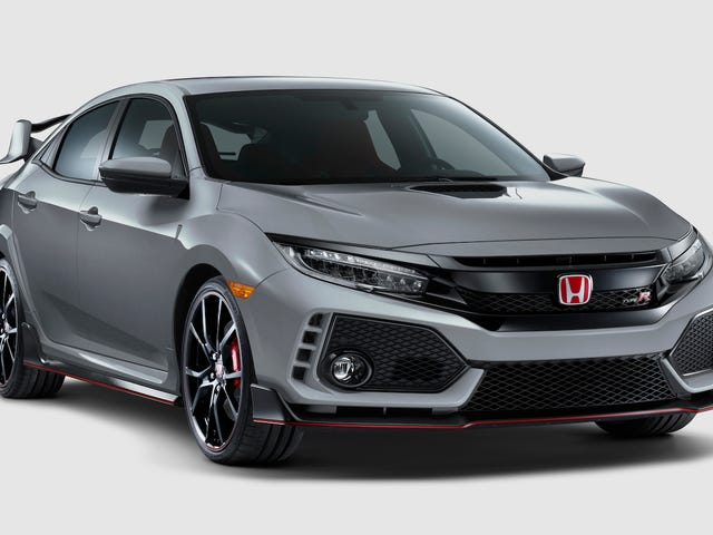 The Civic Type R now comes in Sonic Grey and has a volume knob