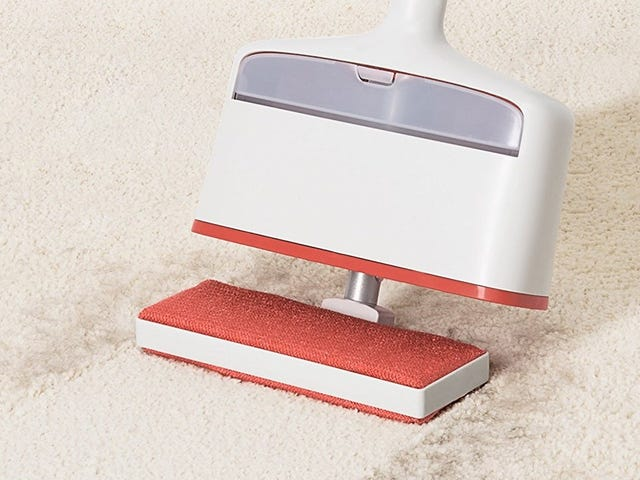 Prepare For Shedding Season With OXO's Self-Cleaning Carpet Brush