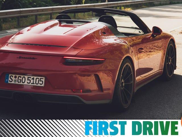 2019年的保时捷Speedster可能是最后一款通过手动变速箱感觉不错的超级跑车
