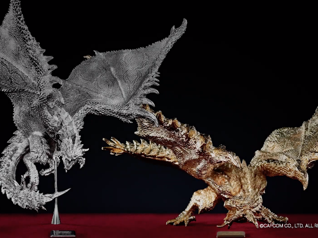Gold And Platinum Monster Hunter Sculptures For Only $81,000 Each