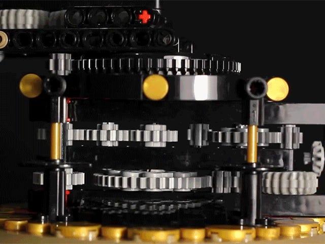 Arbejde Lego Model af jorden, månen og solen er bemærkelsesværdigt 97 procent præcis