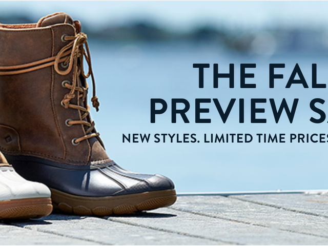 Look Ahead to Cooler Weather With A Pair of Sperry Sales
