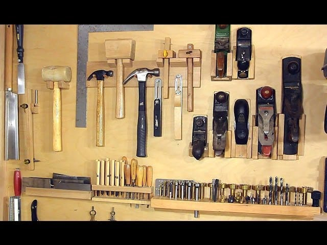 Organize Your Hand Tools with These Custom-Built Wall Mounts