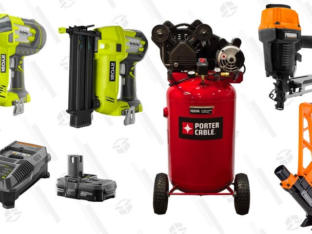 Nail Down Savings On Nailers and Compressors From Home Depot