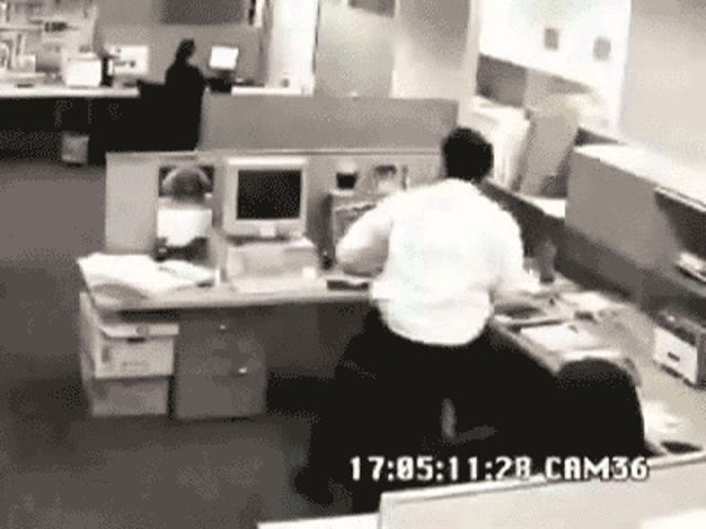 OFFICE RAGE GIF COMPILATION