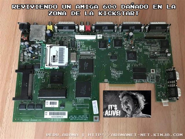 Reviviendo un Amiga 600 dañado en la zona de la kickstart