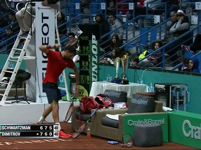 Dimitrov Meltdown Hands Opponent Primera victoria ATP Tour