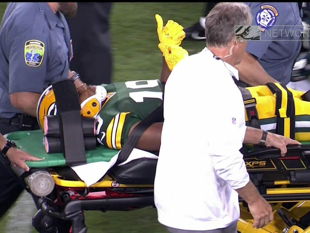 Malachi Dupre Stretchered Off Field After Brutal Hit