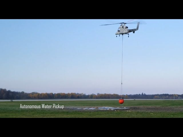 Quadcopter And Unmanned Helicopter Combo Is Great At Fighting Fire