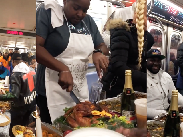 I Don't Entirely Hate This Thanksgiving Dinner Served on the New York City Subway