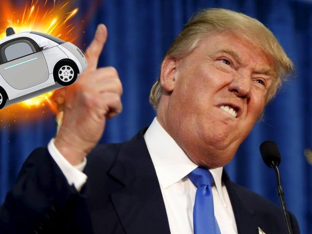 Como la mayoría de los estadounidenses, Trump aparentemente tiene miedo de los autos sin conductor