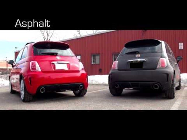 Fiat 500 Abarth rev-off!